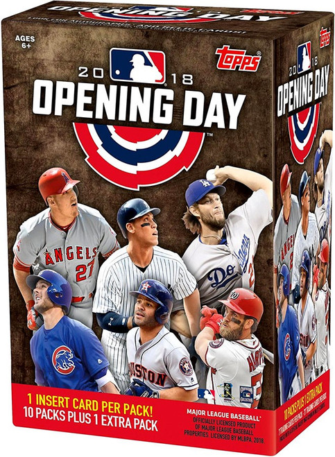 MLB Topps 2018 Opening Day Baseball Trading Card BLASTER Box [10 Packs + 1 Extra Pack]