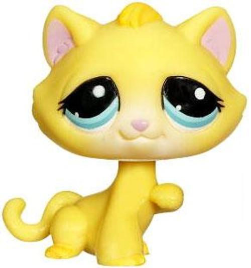 Littlest Pet Shop Kitty Figure [Yellow Loose]