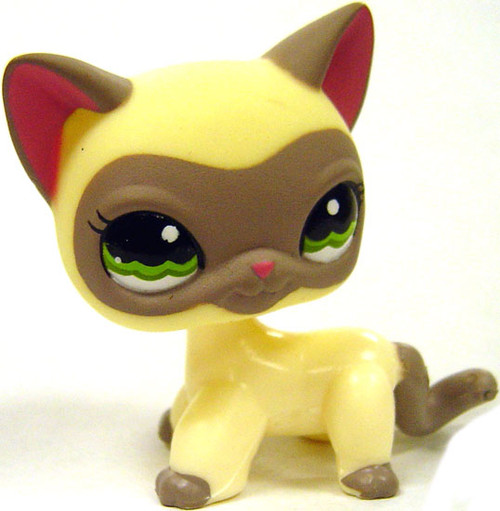 Littlest Pet Shop Around the World Siamese Cat Figure #1116 [Loose]
