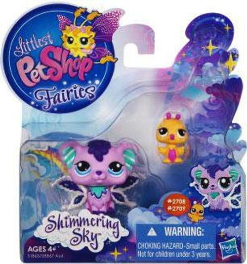 Littlest Pet Shop Fairies Shimmering Sky Sprinkle Fog Fairy & Humming Bird Figure 2-Pack #2708, 2709 [Loose]