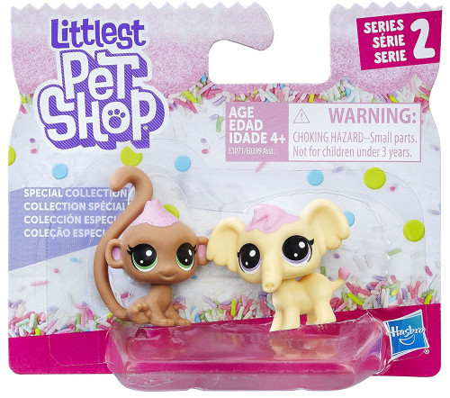 Littlest Pet Shop Special Collection Series 2 Macaron Elefen & Cocolina Monkley 2-Pack [Wild]