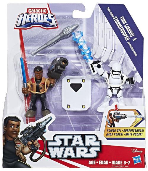 Star Wars Galactic Heroes Finn & First Order Stormtrooper Mini Figure 2-Pack