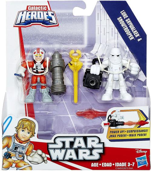 Star Wars Galactic Heroes Luke Skywalker & Snowtrooper Mini Figure 2-Pack