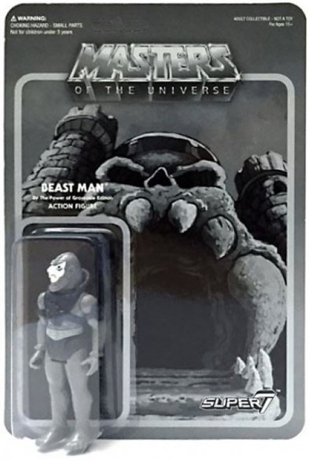 ReAction Masters of the Universe Beastman Exclusive Action Figure [Grayscale]
