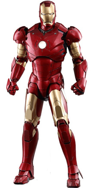 Marvel Movie Masterpiece Diecast Iron Man Mark III Collectible Figure [Deluxe Version]