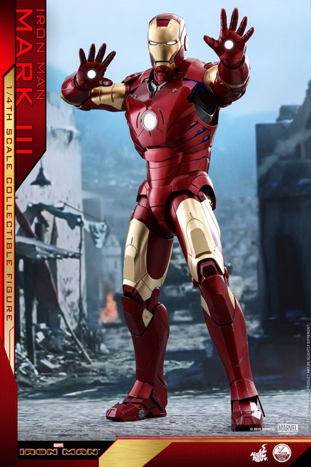 Marvel Movie Masterpiece Diecast Iron Man Mark III Collectible Figure [Regular Version] (Pre-Order ships June)