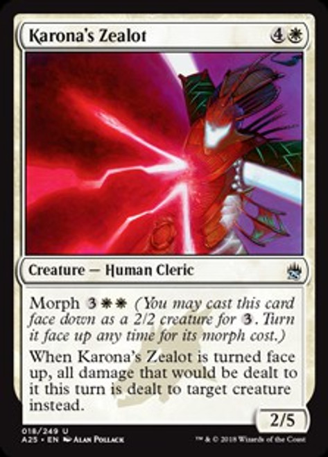 MtG Masters 25 Uncommon Karona's Zealot #18