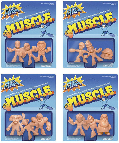 M.U.S.C.L.E. Mega Man A, B, C & D 1.75-Inch Set of 4 3-Packs