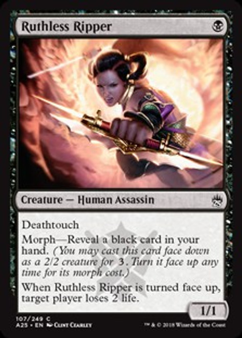 MtG Masters 25 Common Foil Ruthless Ripper #107