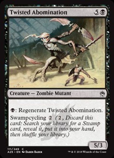 MtG Masters 25 Common Twisted Abomination #111