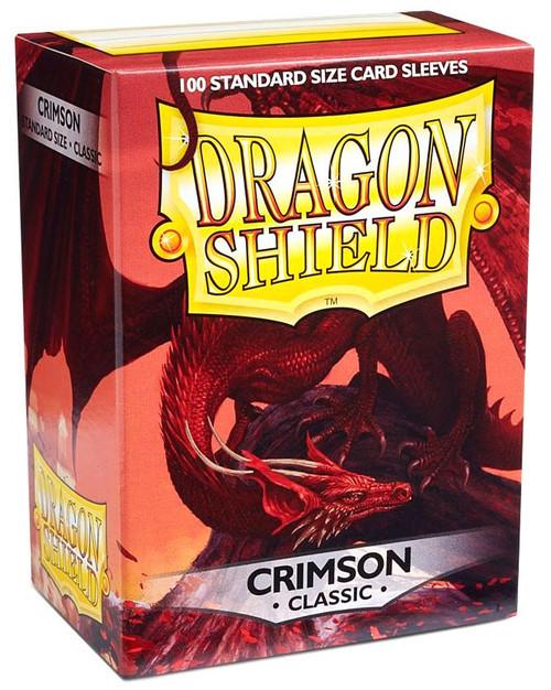 Card Supplies Dragon Shield Crimson Classic Standard Card Sleeves [100 Count]