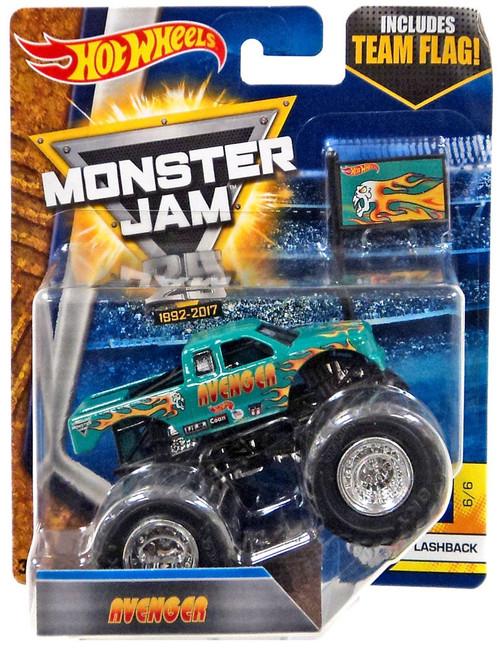 Hot Wheels Monster Jam 25 Avenger Die-Cast Car #6/6 [Flashback, Damaged Package]