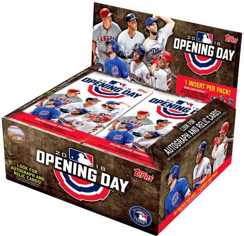 MLB Topps 2018 Opening Day Baseball Trading Card HOBBY Box [36 Packs]