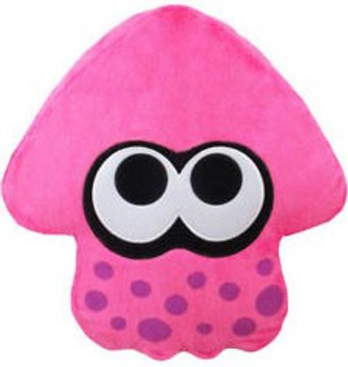 Splatoon Neon Pink Squid Cushion Plush