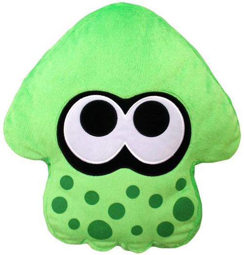 Splatoon Neon Green Squid Cushion Plush
