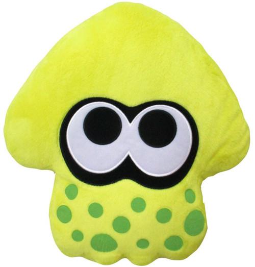Splatoon Neon Yellow Squid Cushion Plush