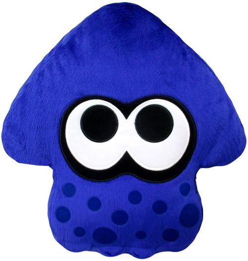 Splatoon Bright Blue Squid Cushion Plush