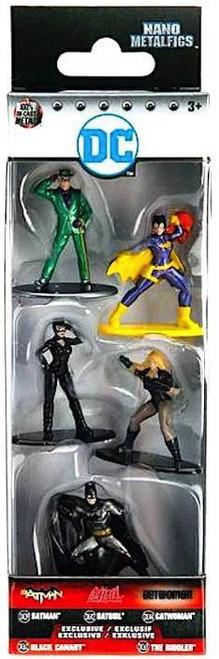 DC Nano Metalfigs Batman, Batgirl, Catwoman, Black Canary & Riddler 1.5-Inch Diecast Figure 5-Pack