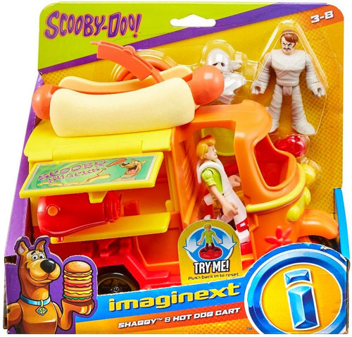 Fisher Price Scooby Doo Imaginext Shaggy & Hot Dog Cart 3-Inch Figure Set