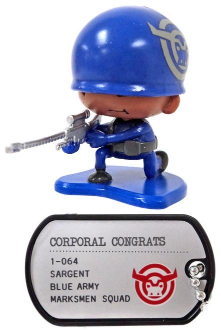 Awesome Little Green Men Corporal Congrats Common PVC Figure #1-064 [Marksmen Squad Loose]
