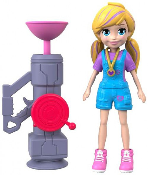 Polly Pocket Zip 'N' Blast Polly 3.75-Inch Mini Figure