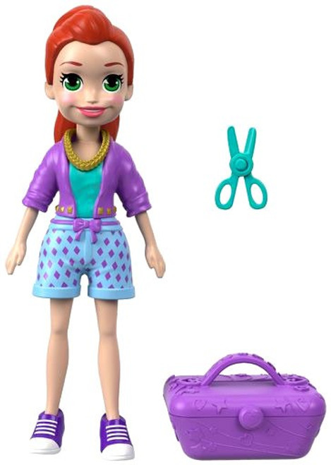 Polly Pocket Totes Cute Lila 3.75-Inch Mini Figure