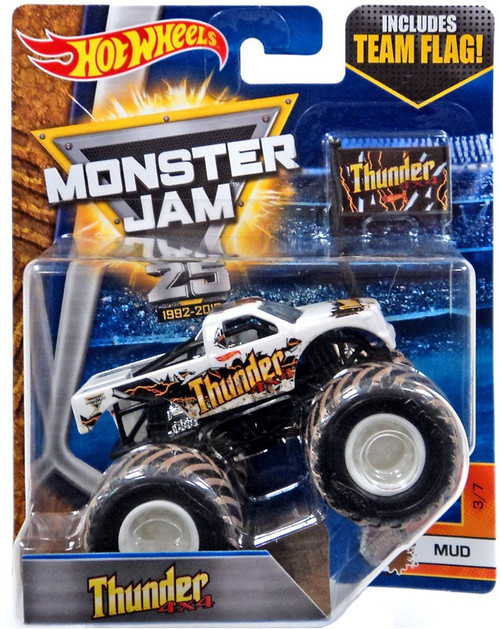 Hot Wheels Monster Jam 25 Thunder 4x4 Die-Cast Car #3/7 [Mud]