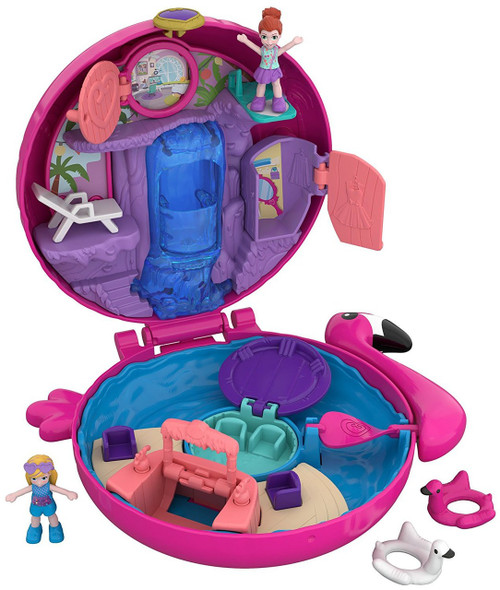 Polly Pocket Big Pocket Flamingo Floatie Playset [World 3]