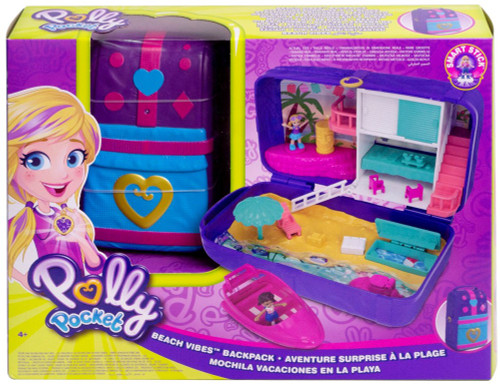 Polly Pocket Hidden Places Beach Vibes Backpack Playset