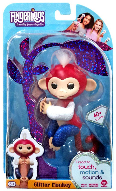 Fingerlings Glitter Monkey Liberty Figure
