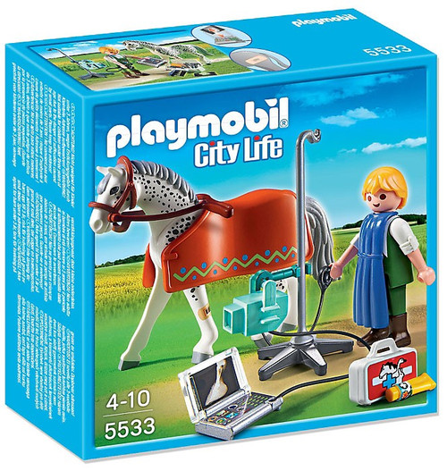 Playmobil City Life Horse with X-Ray Technician Set #5533 [Damaged Package]