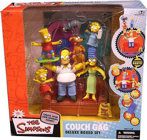McFarlane Toys The Simpsons Deluxe Boxed Sets Family Couch Gag Action Figure Set [Damaged Package, Mint Figures]