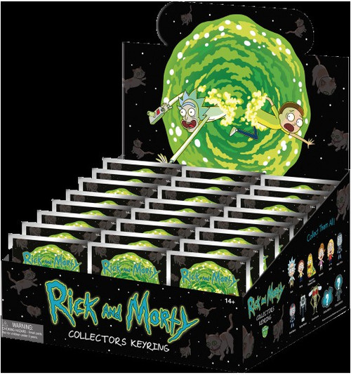 3D Figural Keychain Series 1 Rick & Morty Mystery Box [24 packs]