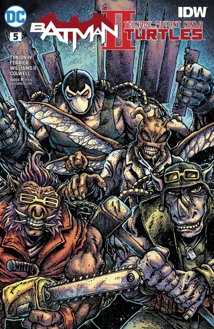DC Batman / Teenage Mutant Ninja Turtles II #5 Comic Book [Variant Cover]