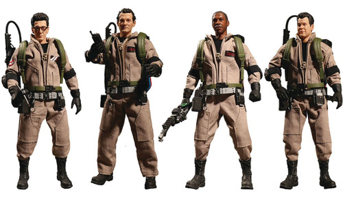 One:12 Collective Ghostbusters Action Figure Boxed Tin Set [Peter, Ray, Egon, Winston & Slimer]