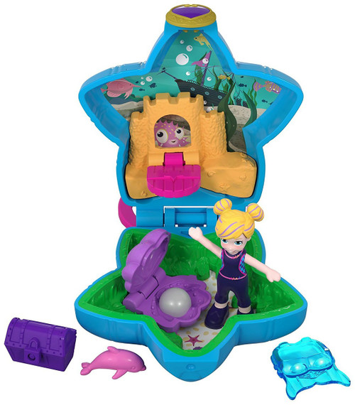 Polly Pocket Tiny World Beach with Polly & Dolphin Playset [World 4]