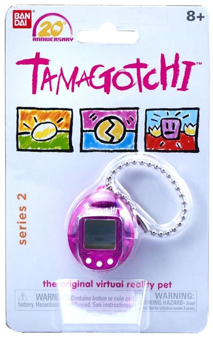 Tamagotchi 20th Anniversary Series 2 Translucent Purple 1.5-Inch Virtual Pet Toy