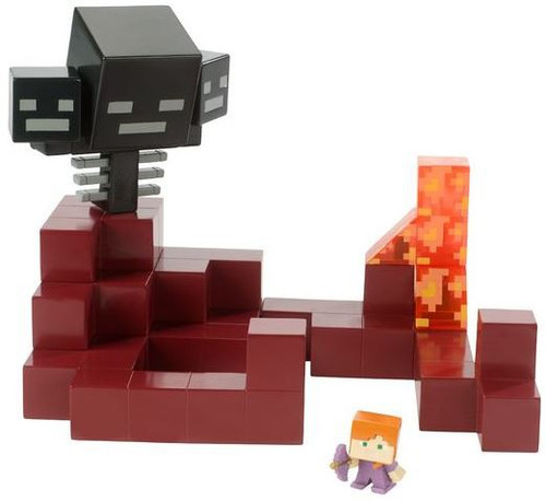 Minecraft Battle in a Box Wither vs Alex In Enchanted Armor Mini Figure Playset