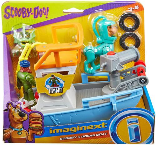 Fisher Price Scooby Doo Imaginext Scooby & Ocean Boat 3-Inch Figure Set