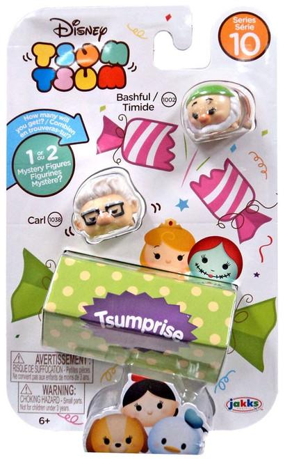 Disney Tsum Tsum Series 10 Bashful & Carl 1-Inch Minifigure 3-Pack #1002 & 1038