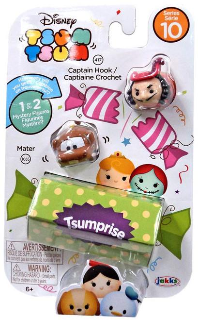Disney Tsum Tsum Series 10 Captain Hook & Mater 1-Inch Minifigure 3-Pack #417 & 1035