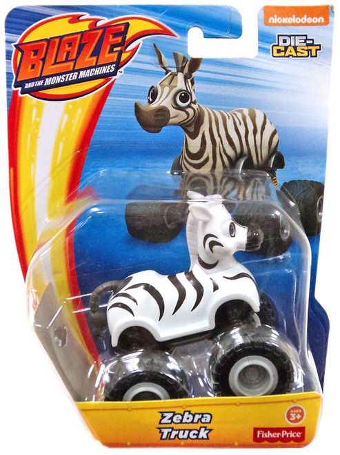Fisher Price Blaze & the Monster Machines Nickelodeon Zebra Truck Diecast Car