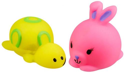 JigglyDoos Yellow Turtle & Pink Rabbit Squeeze Toy 2-Pack