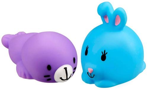 JigglyDoos Purple Seal & Blue Rabbit Squeeze Toy 2-Pack