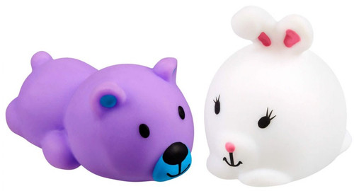 JigglyDoos Purple Bear & White Rabbit Squeeze Toy 2-Pack