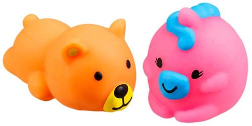 JigglyDoos Orange Bear & Pink Unicorn Squeeze Toy 2-Pack