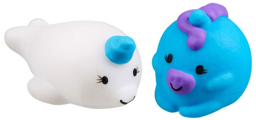 JigglyDoos White Narwhal & Blue Unicorn Squeeze Toy 2-Pack