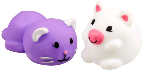 JigglyDoos Purple Cat & White Pig Squeeze Toy 2-Pack