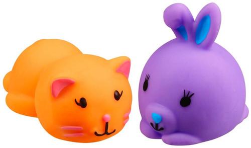 JigglyDoos Orange Cat & Purple Rabbit Squeeze Toy 2-Pack