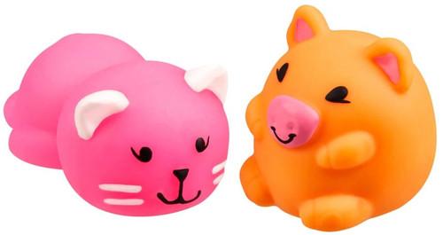 JigglyDoos Pink Cat & Orange Pig Squeeze Toy 2-Pack